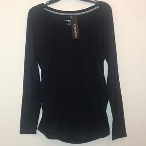 Liz Lange Maternity Black Long Sleeve Shirt